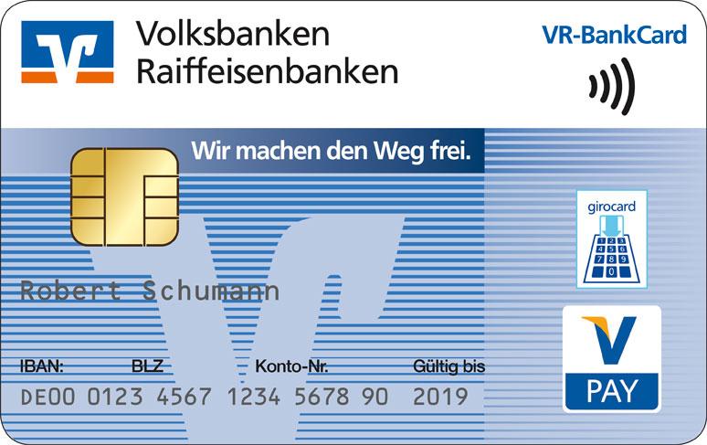 VR-BankCard kontaktlos NFC