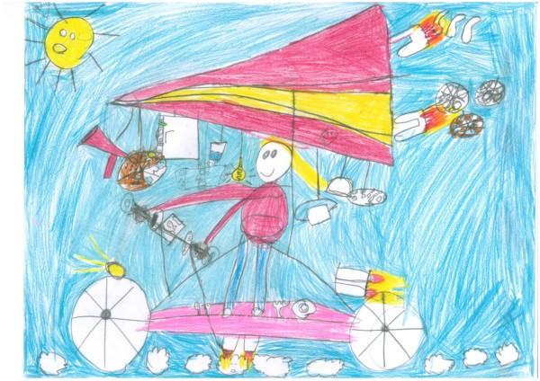 Fliegendes Fahrrad