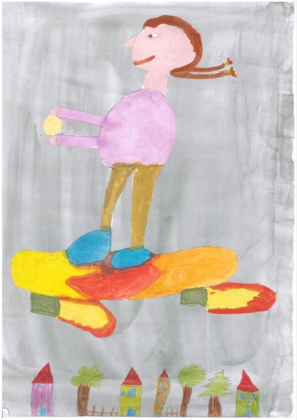 Fliegendes Skateboard
