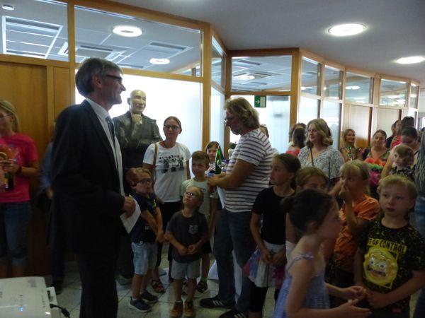 Begrüßung durch Prokurist Uwe Pinkinelli